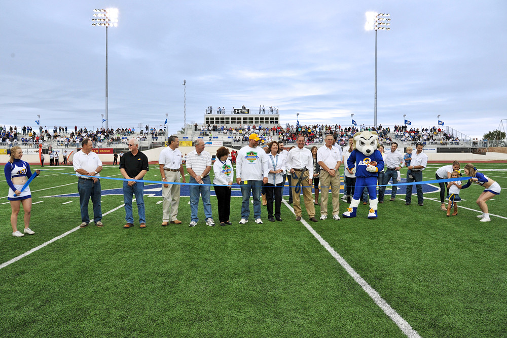 1st Community Credit Union Field at LeGrand Stadium ribbon cutting precedes the winning football game against Western State.