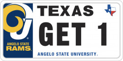 Angelo State License Plate