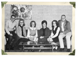 Officers of Angelo State College's Four-Corners Square Dance Club pose for the 1964 Rambouillet p...