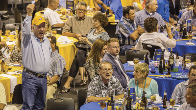 Athletics Wins with Blue & Gold Annual Auction: 2015 Phil George Blue & Gold Dinner and Auction.