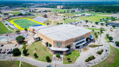 The Changing Face of Campus: An aerial view of the construction on the University Sports Medicine - Shannon Clinic-Jackson and the Mayer Press Box
