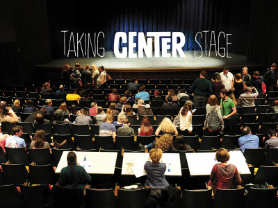 Students from across Region 6, which includes Arkansas, Louisiana, New Mexico, Oklahoma and Texas, gathered in the University Auditorium for the finals of the auditions for the Irene Ryan Acting Scholarships.