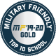 Military Friendly '19-20, Top 10 School, Gold