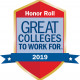 Great Colleges to Work for 2019 Honor Roll Logo