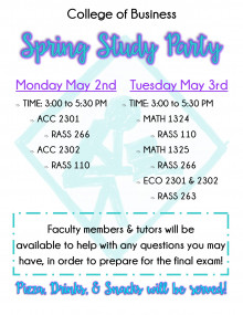 Events Calendar / College of Business final exam study party!!!