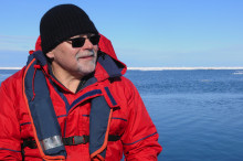 John Smol at the Northwest Passage in September 2014.