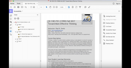 Watch this video to learn about how to use the Accessibility Report in Adobe Acrobat.