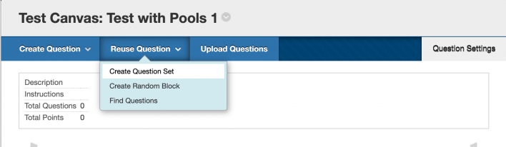 When you are creating a test in Blackboard, you have the option, following the screenshot shown h...