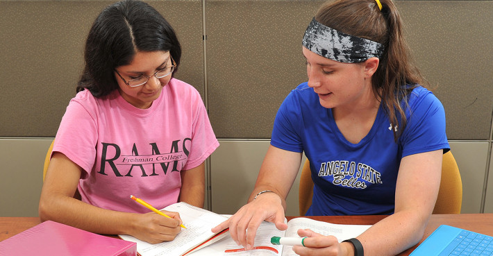 ASU students work together on a think-pair-share activity.