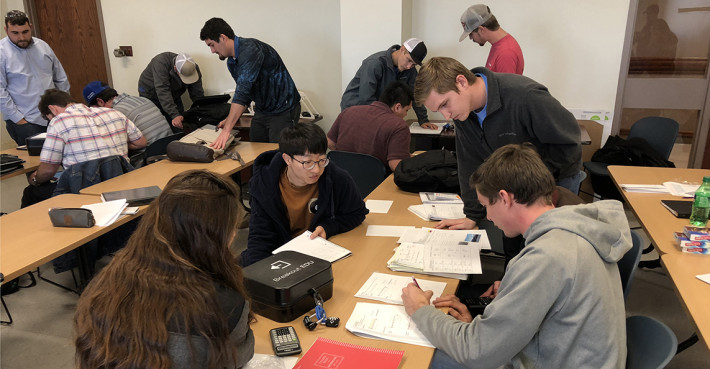 Student groups competed this past fall to be the first to complete the Black Box Challenge test r...