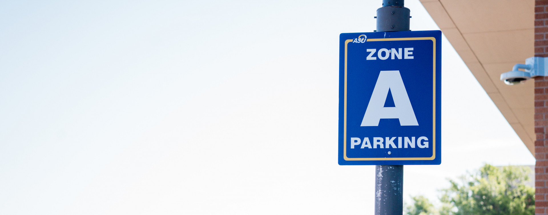 Zone A Parking sign