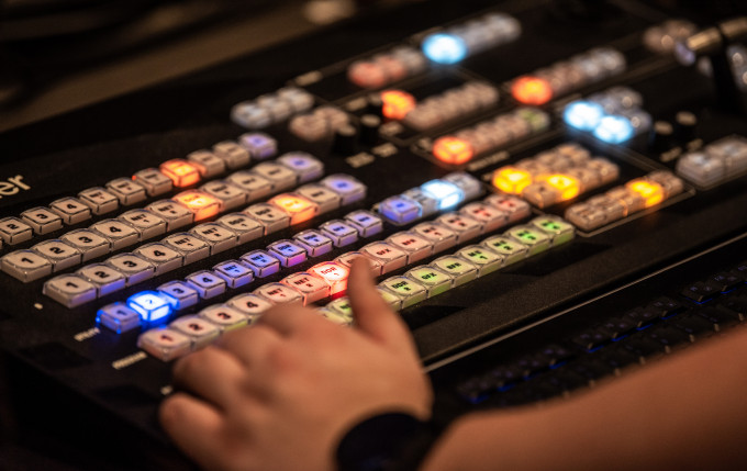 keyboard for television production