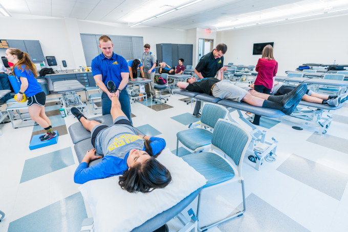 Physical Therapy students assessing patients