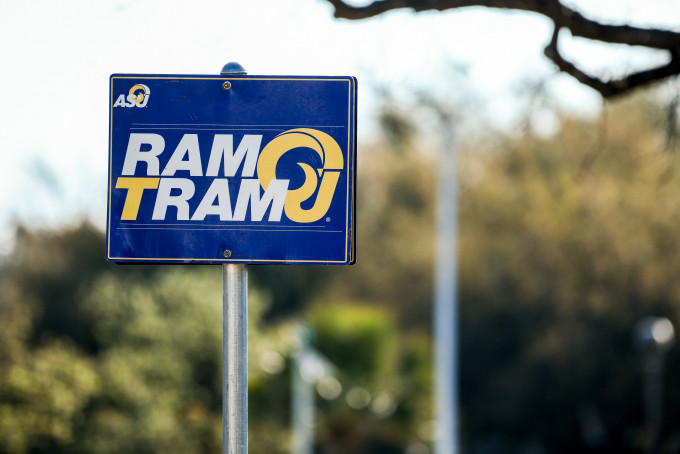 Ram Tram parking sign
