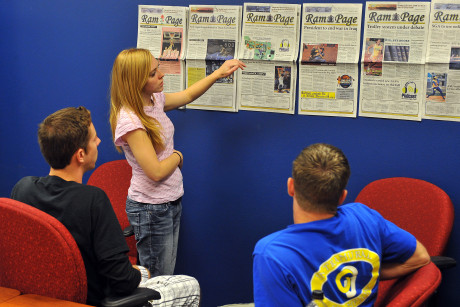 You'll learn the principles of broadcast journalism and photojournalism when you study mass media...