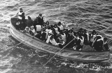 Last lifeboat successfully launched from the Titanic