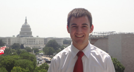 Maxwell Kennady at the Capitol in Washington, D.C.