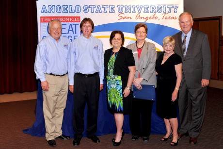 (L-R: Dr. Brian May, Dr. Andy Wallace, Dr. Shirley Eoff, Suzanne Campbell, Pat Rodgers, Gary Rodgers)