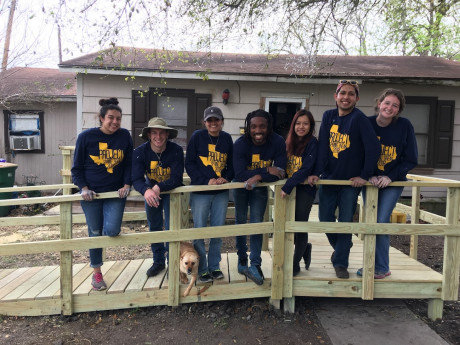 Students built several wheelchair ramps during Project Spring Break 2018 in Victoria, TX