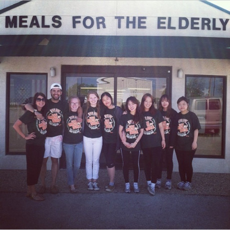 Students Who Serve at Meals for the Elderly