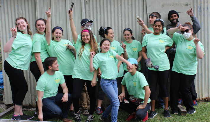 Group photo of ASU Students involved in a Community Service event.