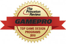The Princeton Review logo for top game design programs.