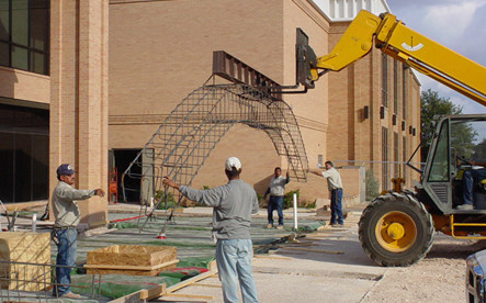 Construction at Angelo State.