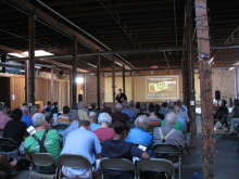 Dr. Robert Hicks, director of the Mutter Museum and Historical Medical Library of the College of Physicians of Philadelphia, discussed the topic of medicine and the Civil War in the Fort Concho Stables as part of the History Department's lecture series commemorating the 150th anniversary of the conflict.