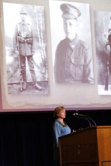 Prof. Tina Doyle (Dept. of Communications & Mass Media) discusses the development of wartime photography and photographic methods during the Great War. (February 21, 2017)