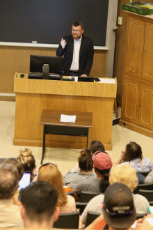 Prof. Julien Zarifian discusses the Armenian Genocide and America's responses to the event at the...