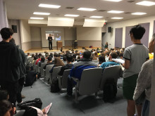 Prof. Krugler packed the Eldon Black Recital Hall on the evening of October 11, 2018.