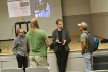 Prof. Krugler spoke to attendees after his lecture on October 11, 2018.