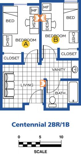 Centennial Village (2 Rooms) Network Drops Part 7