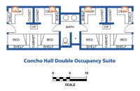 Concho Hall Network Drops