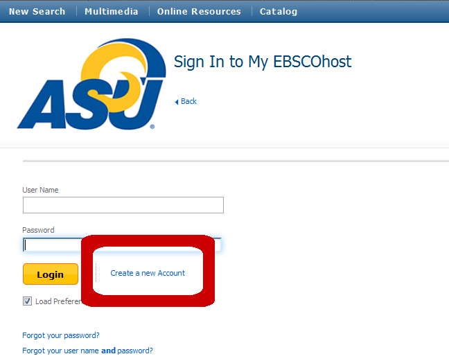 Q. How do I set up an EBSCO account? - Ask Us!