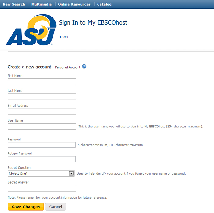 Why do I need a My EBSCOhost Account? - Using EBSCO eBooks ...