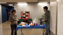 Free coffee and cookies are supplied by the Friends of the Library and West Texas Collection during the week of final exams.