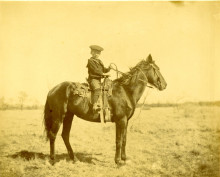 Young boy on horseback