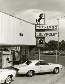 Mustang Chevrolet on corner of Main & Beauregard