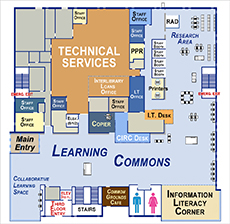 Learning Commons floorplan