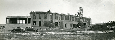 New Administration Building under construction in 1947