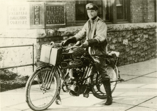 Henry Ragsdale on motorcycle