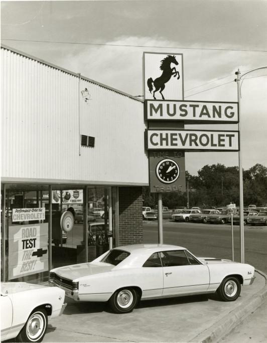 ... San Angelo, TX. Mustang Chevrolet On Corner Of Main U0026 Beauregard