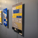 The Porter Henderson Library displays student art.