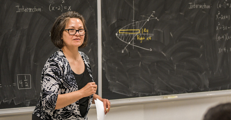 Dr. Dionne Bailey of the Mathematics Department teaches a class of students.