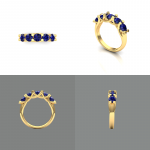 Ring set with sapphires.