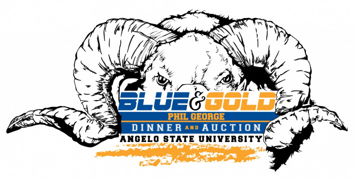 Blue and Gold Auction Logo