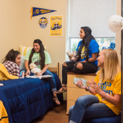 Students in Residence Hall